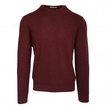 Circolo 1901 Burgundy Crew Neck Jumper