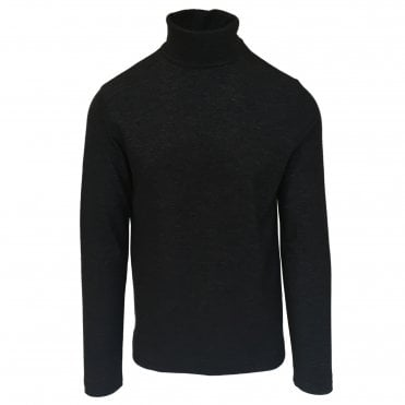 Circolo 1901 Charcoal Roll Neck Wool Jumper