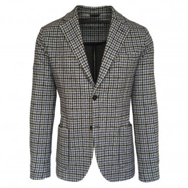 Circolo 1901 Checked Stretch Jersey Jacket