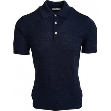 Circolo 1901 Dark Blue Italian Cotton Short-Sleeve Polo Shirt CN1969