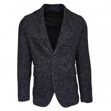 Circolo 1901 Dark Blue Patterned Stretch Jersey Jacket