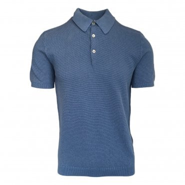 Circolo 1901 French Blue 'Punta' Knitted Polo