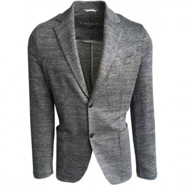 Circolo 1901 Grey/Blue Linen Stretch Sports Jacket CN1940