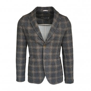 Circolo 1901 Grey Check Stretch Jersey Jacket