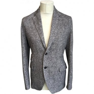 Circolo 1901 Grey Stretch Cotton Blazer 'Cashmere Feel Tweedlavaewa' CW1586 201