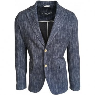 Circolo 1901 Light Blue Herringbone Stretch Sports Jacket CN1828