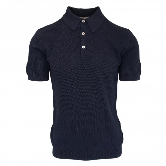 Circolo 1901 Midnight Blue 'Punta' Knitted Polo