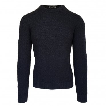 Circolo 1901 Navy Crew Neck Jumper