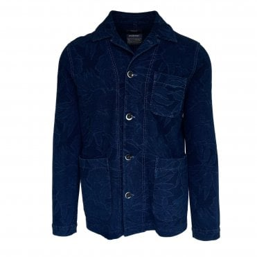 Circolo 1901 Navy Patterned Panama Jacket