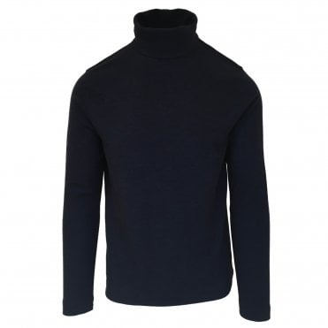 Circolo 1901 Navy Roll Neck Wool Jumper
