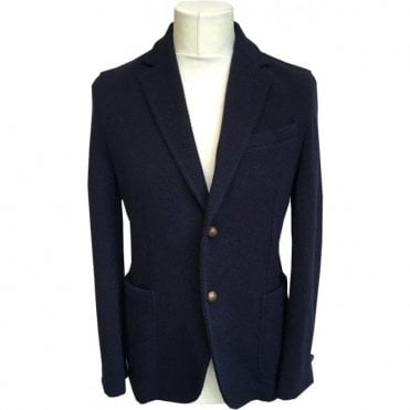 Circolo 1901 Navy Wool Blend Sports Jacket CN1659 8286
