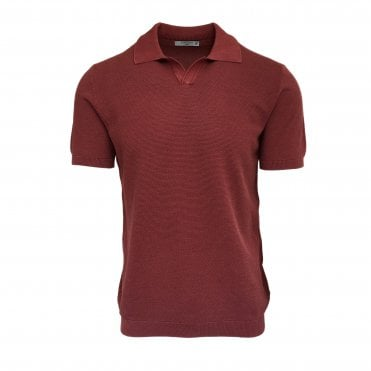 Circolo 1901 Red Knitted Polo