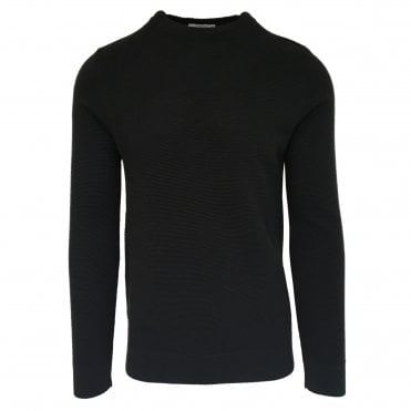 Circolo 1901 Textured Anthracite Grey Crew Neck Jumper