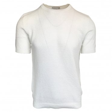 Circolo 1901 White Knitted Crewneck T-Shirt