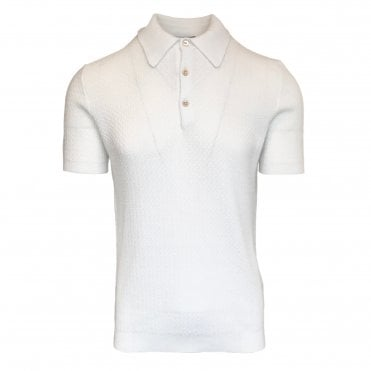 Circolo 1901 White Knitted Polo