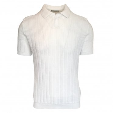 Circolo 1901 White 'Riviera' Knitted Polo