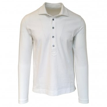 Circolo 1901 White Stretch Jersey Polo Shirt