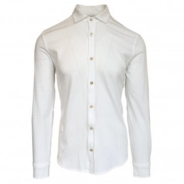 Circolo 1901 White Stretch Jersey Shirt