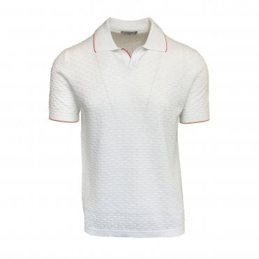 Circolo 1901 White Textured Polo