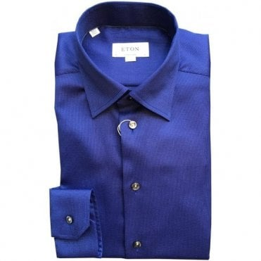 Eton Shirts Contemporary Fit Blue Patterned Shirt 33476140727