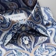 Eton Shirts CONTEMPORARY FIT Dark Blue Paisley Pattern Day Shirt 3327 79311 27