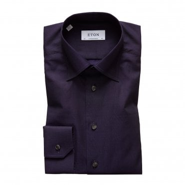 Eton Shirts Contemporary Fit Deep Purple Shirt