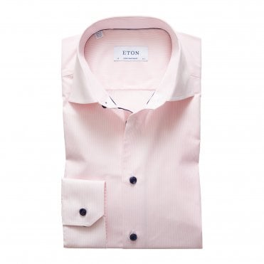 Eton Shirts Contemporary Fit Fine Pink Stripe Shirt