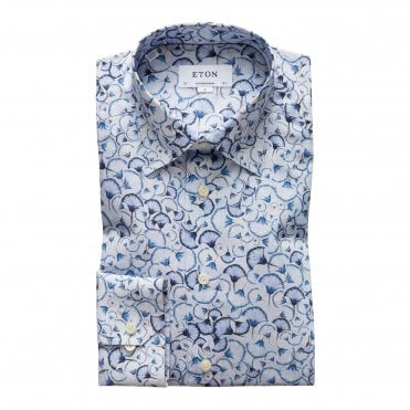 Eton Shirts Contemporary Fit Floral Print Shirt