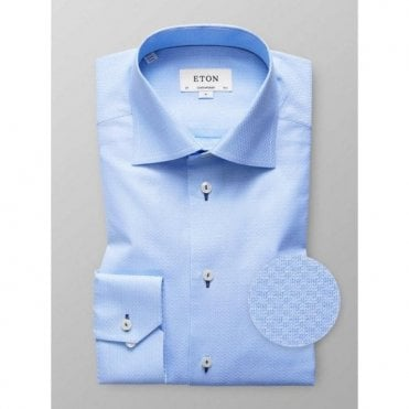 Eton Shirts Contemporary Fit Light Blue Patterned Shirt 33617938320