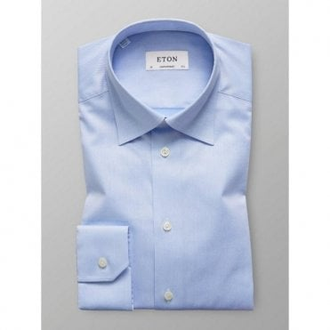 Eton Shirts Contemporary Fit Light Blue Shirt With Hidden Button Down Collar 30006131121