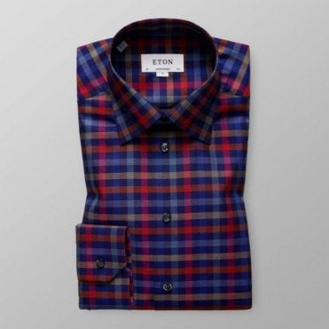 Eton Shirts Contemporary Fit Multicoloured Check Shirt 3356 61311 27
