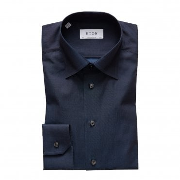 Eton Shirts Contemporary Fit Night Sky Blue Shirt