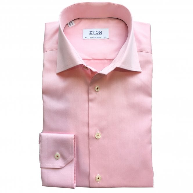 Eton Shirts Contemporary Fit Pink Eton Shirt