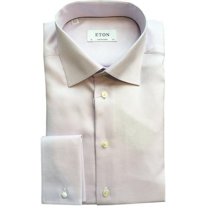 Eton Shirts Contemporary Fit Pink French Cuff Patterned Shirt 33127931253