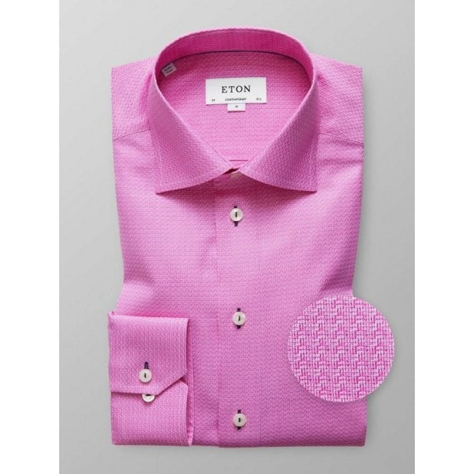 Eton Shirts Contemporary Fit Pink Patterned Shirt 33617938354