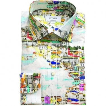 Eton Shirts Contemporary Fit Porto Print Shirt 272879311