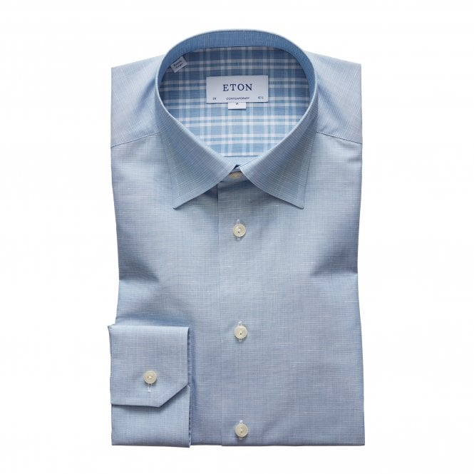 Eton Shirts Contemporary Fit Sky Blue Eton Shirt