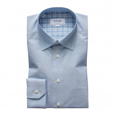 Contemporary Fit Sky Blue Eton Shirt