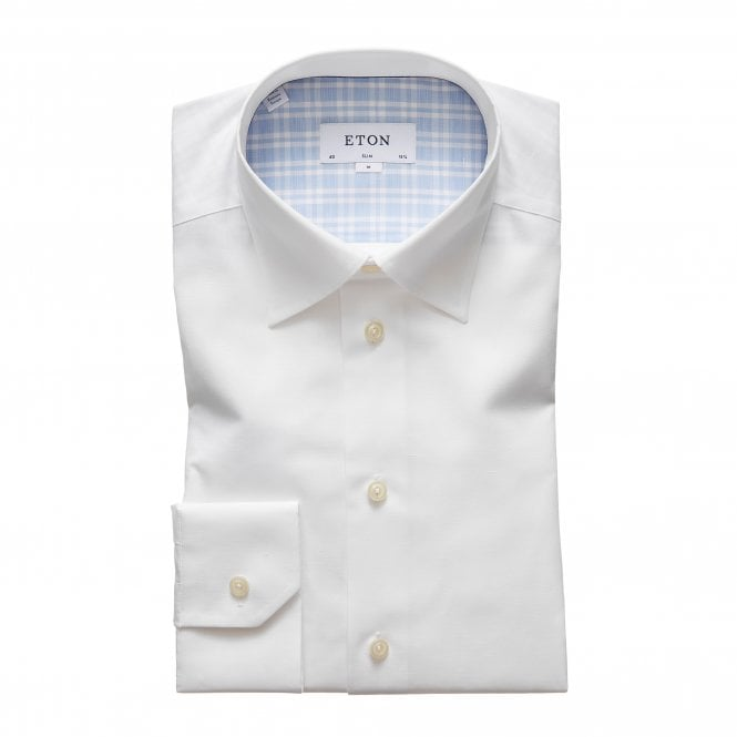 Eton Shirts Contemporary Fit White Eton Shirt