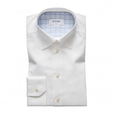 Contemporary Fit White Eton Shirt