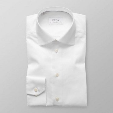 Eton Shirts Contemporary Fit White Signature Twill Cotton Shirt 30007931100