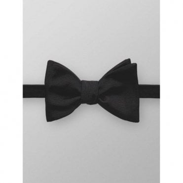 Eton Black Silk 'Self-Tied' Bow Tie A10145001 1800