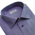 Eton Shirts Eton CONTEMPORARY FIT Double Cuff Striped Shirt in Navy.
