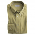 Eton Shirts Eton CONTEMPORARY FIT Single Cuff Button Down Shirt in Beige.