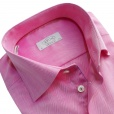 Eton Shirts Eton CONTEMPORARY FIT Single Cuff Shirt in Pink with Check Detail.