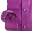 Eton Shirts Eton CONTEMPORARY FIT Single Cuff Shirt in Purple.