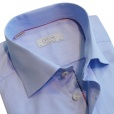 Eton Shirts Eton CONTEMPORARY FIT Single Cuff Shirt in Sky Blue.