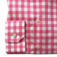 Eton Shirts Eton SLIM FIT Single Cuff Bold Check Print Shirt in Pink.