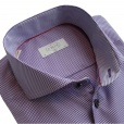 Eton Shirts Eton SLIM FIT Single Cuff Check Shirt in Purple with Purple Buttons.