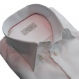 Eton Shirts Eton SLIM FIT Tab Collared Single Cuff Shirt in White.